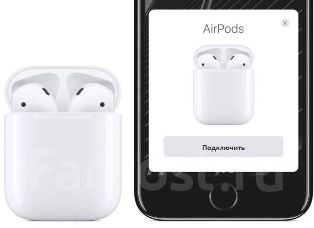 Подключение AirPods к iPhone при приближении